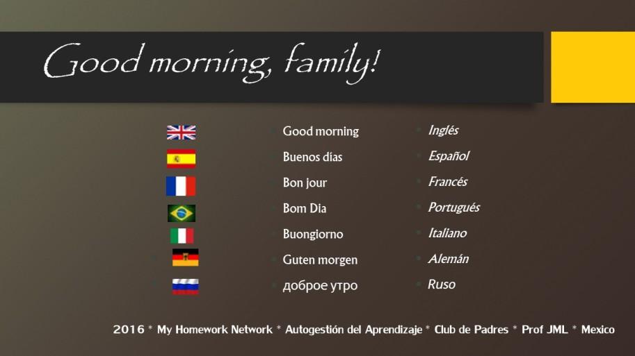 Good morning WELCOME2b