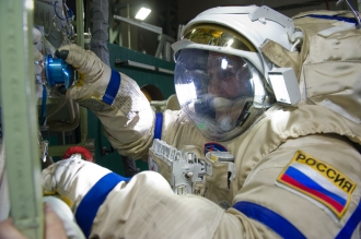 RUSSIAN ASTRONAUT FROM MOSCOW